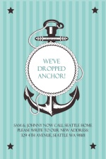 We've Dropped Anchor Moving Announcement