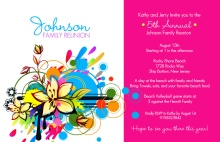 Bright and Bold Family Reunion Invitation