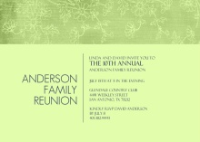 Soft Green Floral Family Reunion Invitation