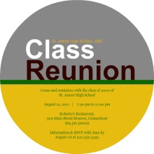 Modern School Colors Class Reunion Invitation