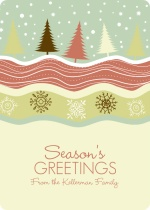 Whimsical Wonderland Season's Greetings Holiday Card