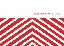Red Chevrons  Holiday Card