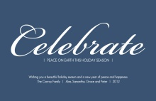 Celebrate Peace on Earth Holiday Card