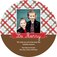 Christmas Gingham Holiday Photo Card