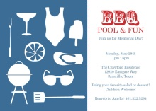 Modern Summer Icons Memorial Day Invitation
