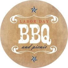 Brown Western Style Barbecue Invitation