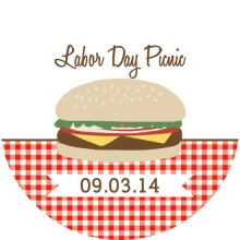 Hamburger Picnic Labor Day Invite