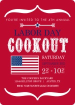 Red Modern Labor Day Party Invite