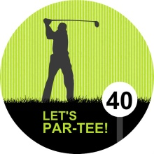 Golf Par-Tee 40th Birthday Invitation
