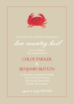 Country Boil Crab Summer Party Invitation
