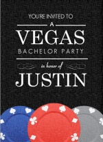 Poker Chips Vegas Bachelor Party Invitation