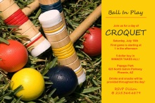 Croquet Game Day Invitation