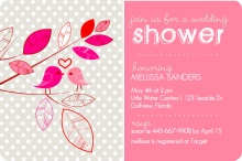 Whimsical Birds Bridal Shower Invite
