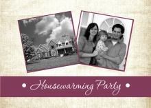 Linen Photo Housewarming Invite