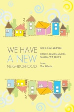Sunny Day in the Neighborhood Moving Announcement