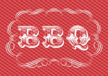 Red and White Western Gingham  BBQ Invite