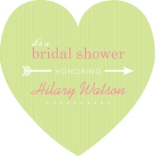 Pink and Green Modern Arrow Bridal Shower Invitation