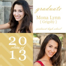 Gold Stripes Graduation Announcements