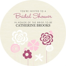 Whimsical Field of Flowers Bridal Shower Invitations