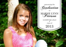 Simple Banner Graduation Announcements