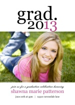Simply Stated Graduation Party Invitation
