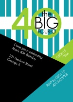 The Big 4-0 Angles & Stripes Birthday Invite