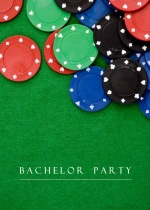 Poker Chips Bachelor Party Invitation