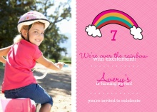 Rainbow Bright Birthday Party Invitation