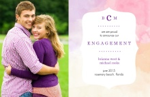 Watercolor Photo Engagement Announcement