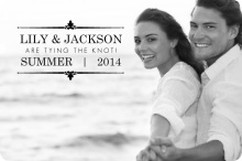 Black Floral Frame Engagement Announcement