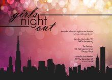 Girls In The City Girls Night Invitation