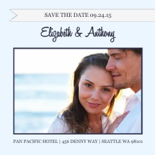 Blue Bird  Wedding Save the Date