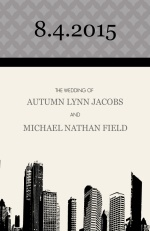 Black White and Gray City Skyline  Wedding Program