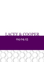 Plum and Silver  Wedding Program