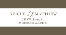 Olive and White Intricate Frame  Address Label