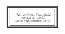 Classy Black and White  Address Label
