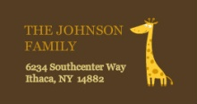 Safari Animals  address labels