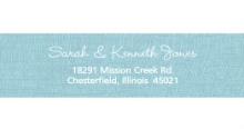 OH BOY! Blue Onesie  Address Label