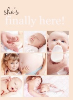 Peach Multiphoto Sibling Announcement