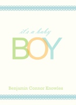 Baby Boy Accordion Shower Invitation