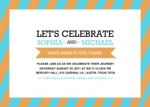 Youthful Anniversary Celebration  Anniversary Party Invitation