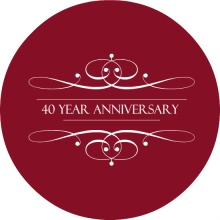 Elegant Ruby 40th Wedding Anniversary Invitation