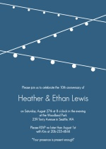 Hanging Party Lights 10th Anniversary Invitation