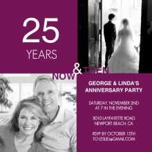 25th Ruby Modern Squares Anniversary Invite