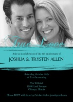 Black and Teal Painted Wedding Anniversary