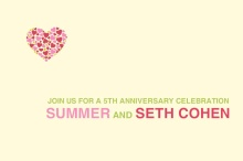 Bright and Bold Pink  Anniversary