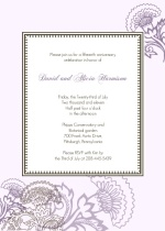 Elegant Lavender  Floral Anniversary Invite
