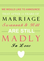 Madly in Love Bold 15th Anniversary Party Invitation