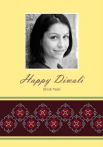 Ornate Patterned Photo Diwali Card