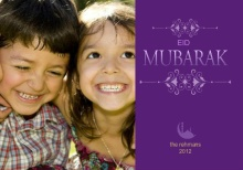 Purple Happy Eid Card